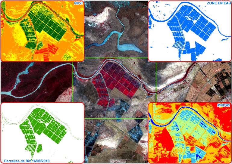 Chaîne de traitement des images satellites