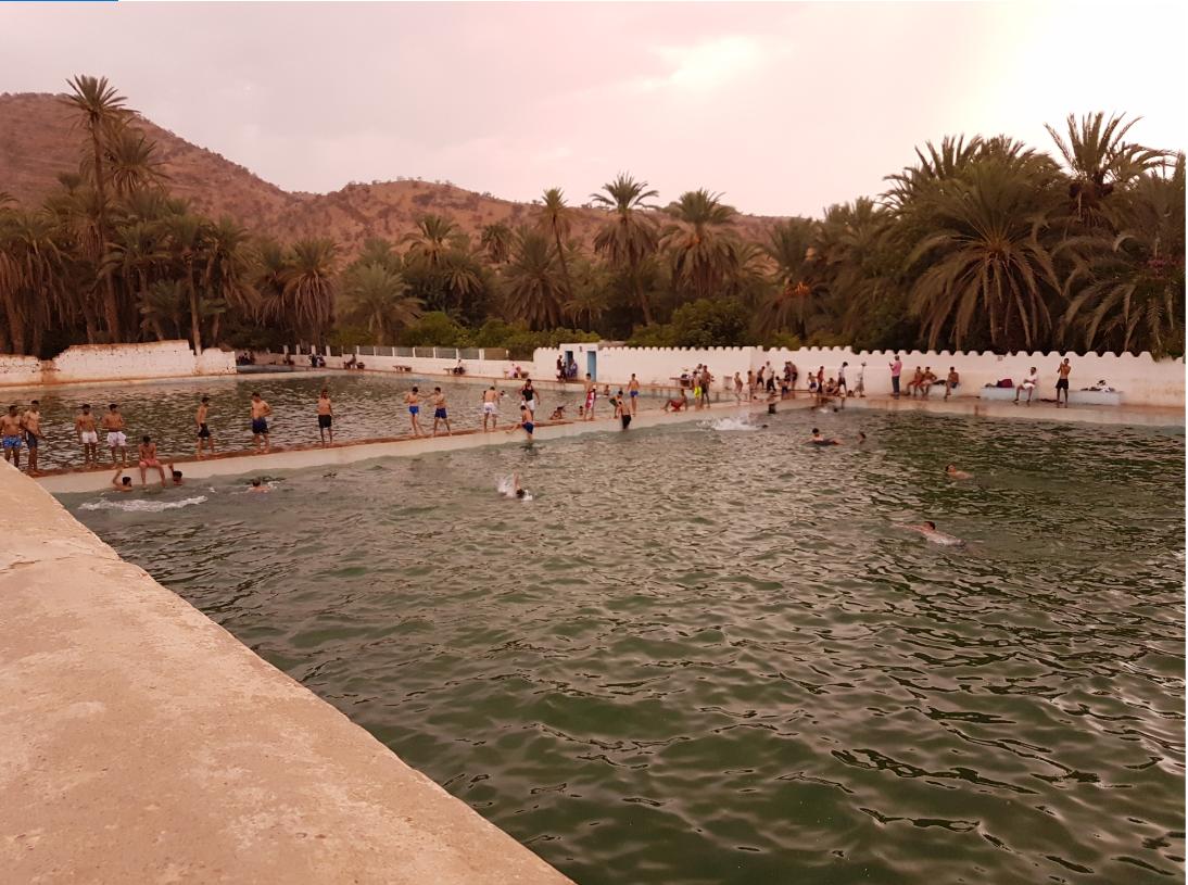Réservoirs d'eau utilisés pour les loisirs, Oasis de TIout